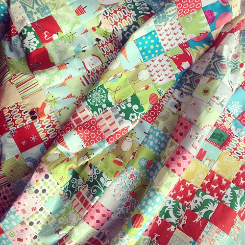 Christmas in February. #scrappytripalong Christmas quilt - top pieced!!!