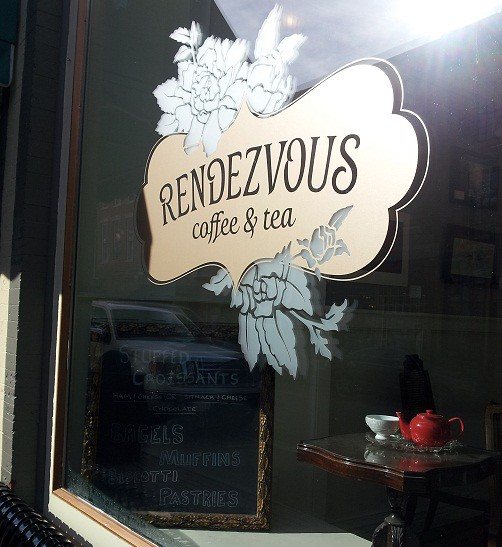 cafe rendevous sign