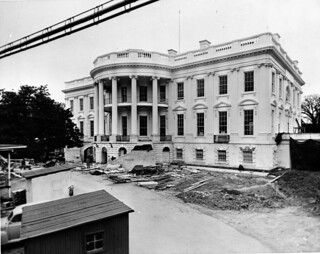 View of the South Portico of the White House, 02/16/1952