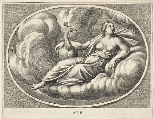 006-La diosa Juno personificando el aire- Cornelis van Dalen (II), 1648-Rijksmuseum API Collectie