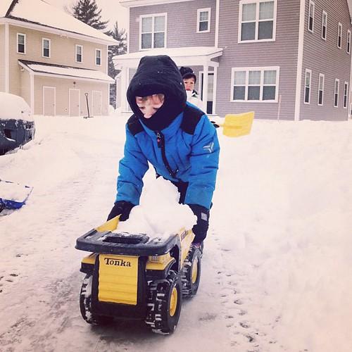 Snow ninja truck driver