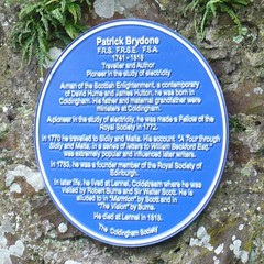 Photo of Patrick Brydone blue plaque