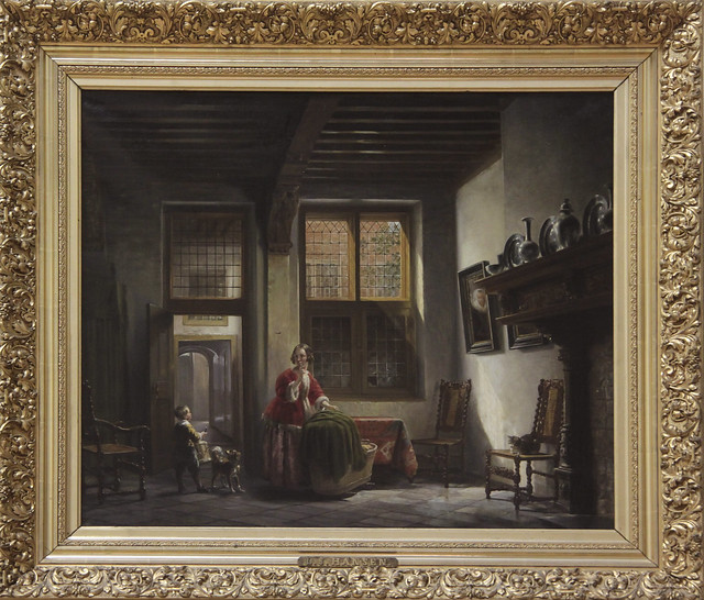 Oudhollands binnenhuis, Lambertus Johannes Hansen 1835