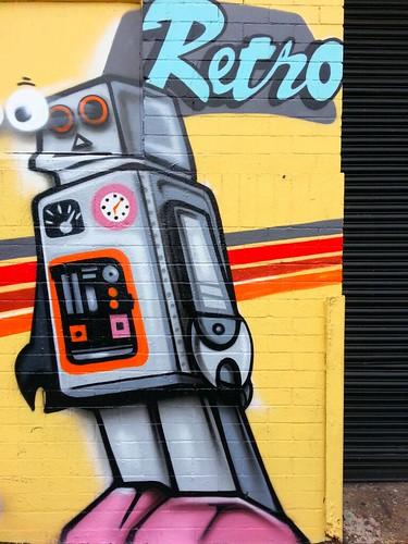 Retro Robot - Alexandria, Sydney street art