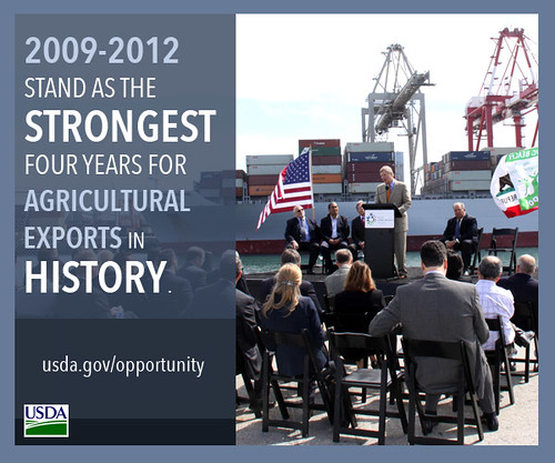 2009-2012 stand as the strongest four years for agricultural exports in history.