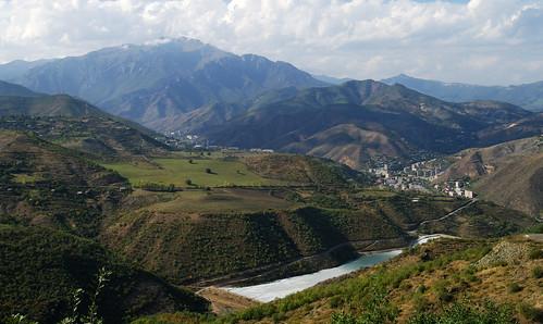 mountain mountains town view hill hills armenia vista overlook kapan armenian