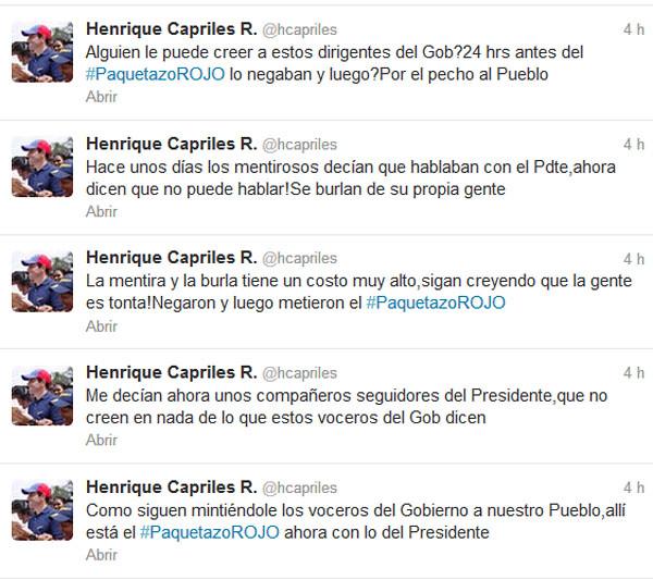 Capriles twitter