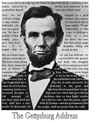 Gettysburg Address - Abraham Lincoln (text wrapping example)