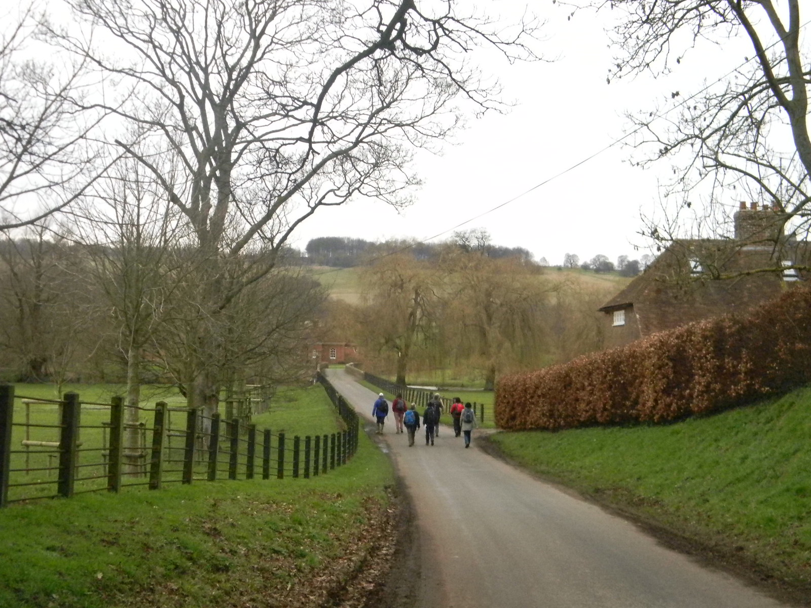 Swooping down to Godmersham Chilham Circular