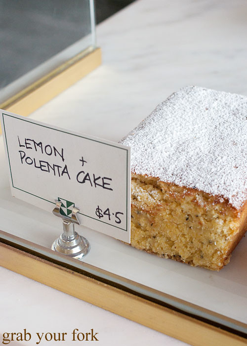 lemon polenta cake at brickfields chippendale