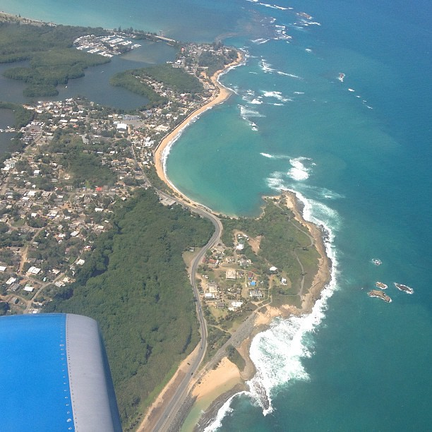 One last view of paradise, snapped yesterday on our way out from #puertorico.