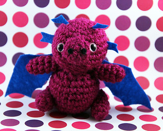Amigurumi Pink and Blue Dragon