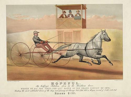 013-Imagen carreras caballos trotones-Library of Congress