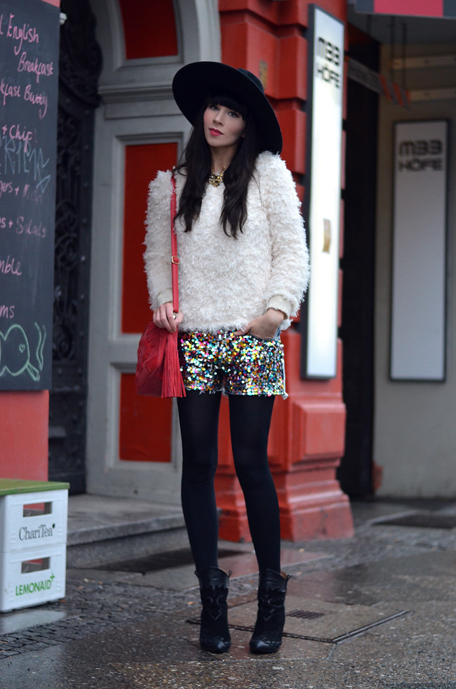 Romwe Knit Red Stradivarius Bag Outfit 4