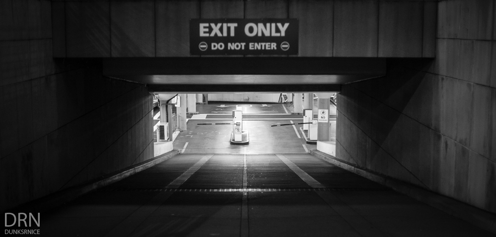 Exit Only B&W.