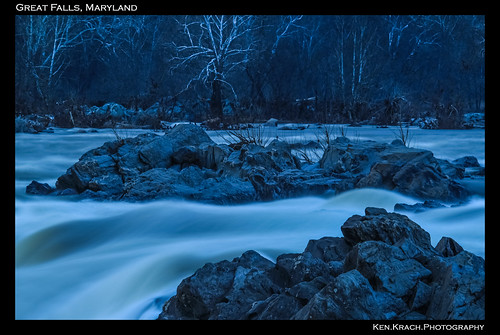 longexposure morning trees winter water waterfall rocks greatfalls greatfallsmaryland