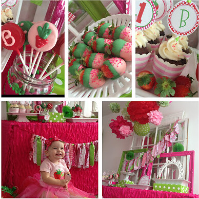Strawberry Themed Party by Wonderfully Made Events