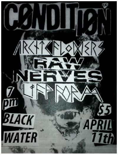 4/11/13 Condition/ArcticFlowers/RawNerves/LifeForm