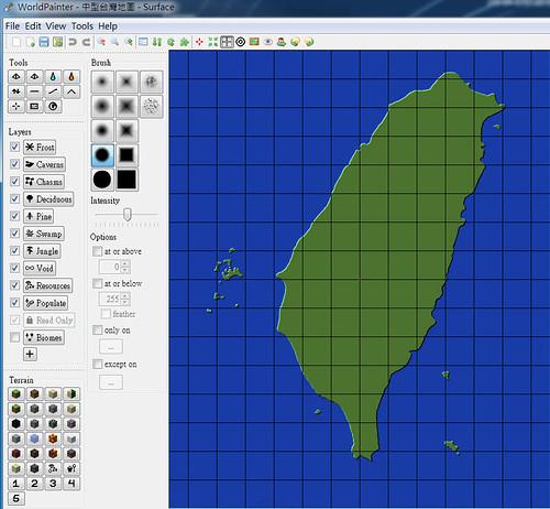 Minecraft 台灣地圖模板