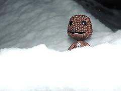 Sackboy en la nieve