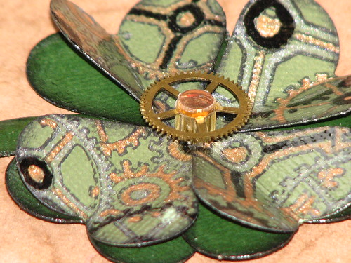 Steampunk Shamrock Pin 013