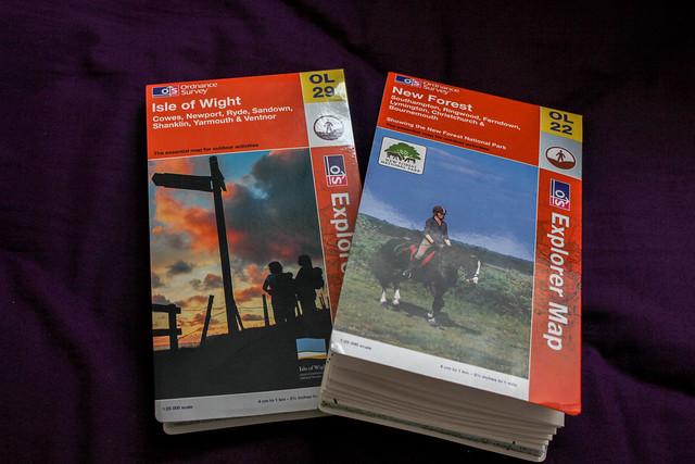 Mapas OL22 New Forest y OL29 Isle of Wight