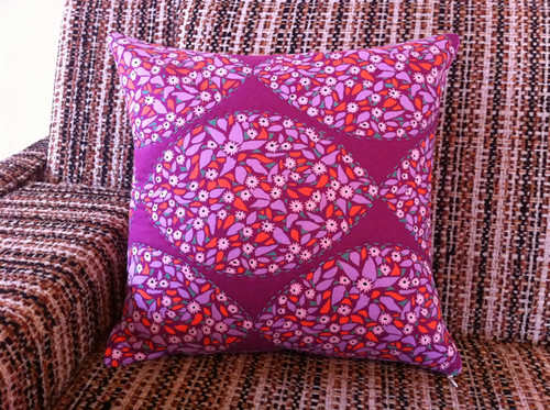 my finished Every Last Stitch pillow