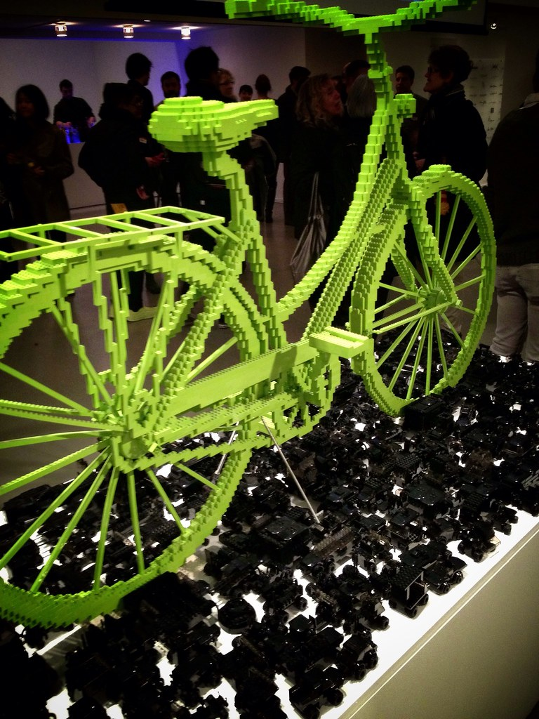 Two of my fav things: #lego + bicycle = #piecebypiece