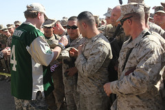 Celebrities overrun Camp Leatherneck during USO tour