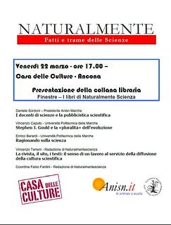 Finestre di NATURALMENTE Scienza -Ancona 2013