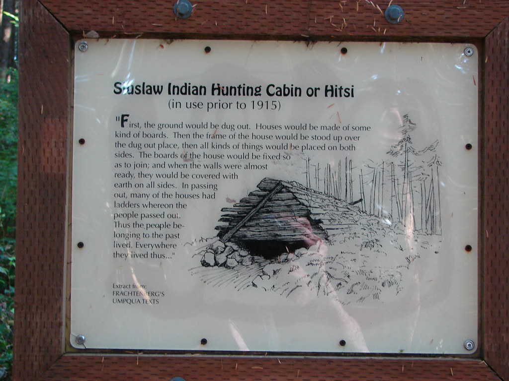 Informationa sign near the shelter