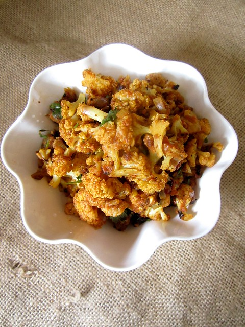 Dry Cauliflower Sabzi{For Roti}