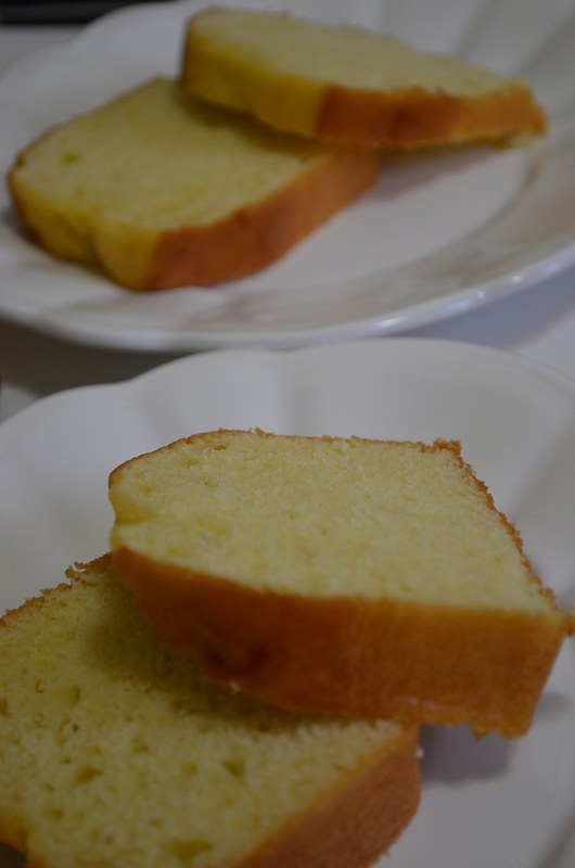 Pound Cake on two plates