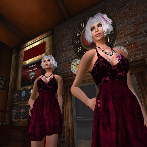 Paris METRO Couture_ Lace Candy Cocktail Dress - Berry