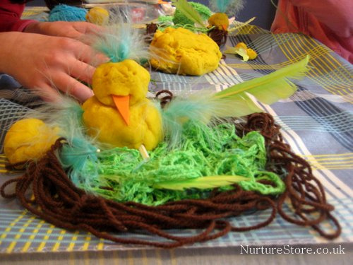 Spring Chick Playdough (Photo from Nurture Store)
