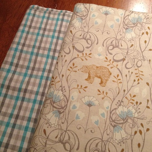 Awesome new fabric to be transformed into a spring shirt for my son.