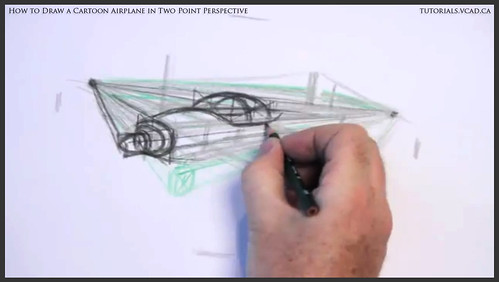 learn how to draw a cartoon airplane in two point perspective 016