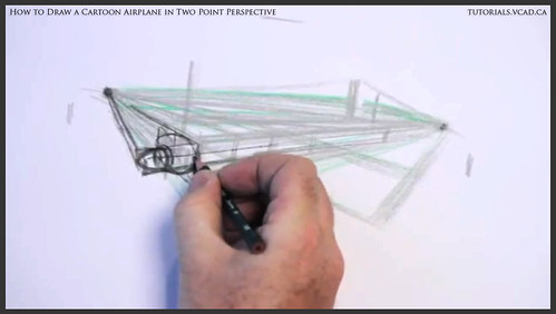learn how to draw a cartoon airplane in two point perspective 012