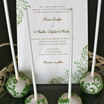 Green Vine Cake Pops to match Pretty Wedding Suite