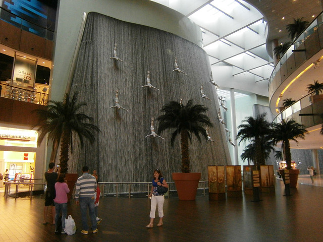 Cascade dans le Dubaï Mall