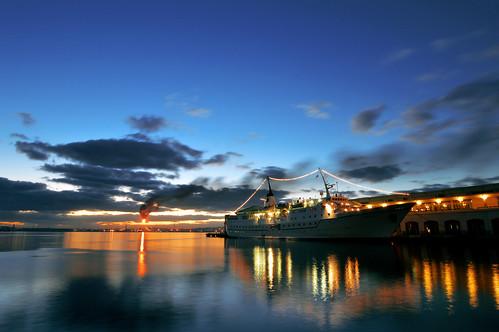 port sunrise de la soleil view couleurs cuba scene panoramic ciel nautical cuban habana reflets vue lever nautique havane