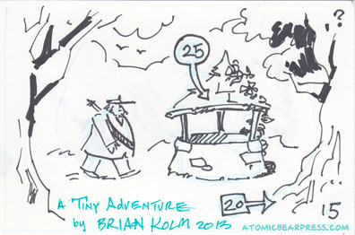 A tiny adventure, a mini-comic by Brian Kolm