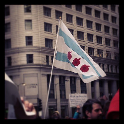 I love the #Chicago education flag.