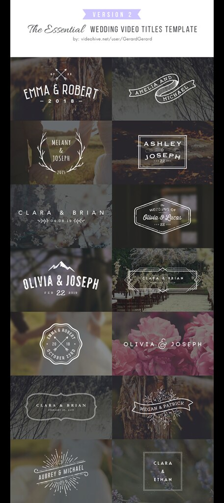 Wedding-titles-2 | wedding titles after effects template, ti… | Flickr