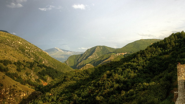 sharr mountains view from prizren castle