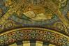Mosaïques de la coupole, Chapelle palatine (VIIIe siècle), cathédrale, Aix-la-Chapelle, Rhénanie du Nord-Westphalie, Allemagne.