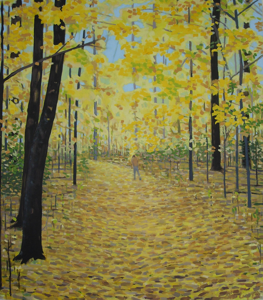 Autumn Hike oil on panel 24� x 22�2014