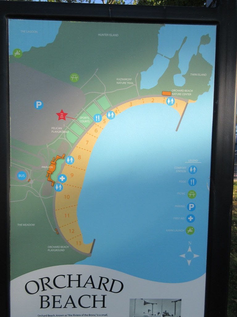 Orchard Park New York Map.Orchard Beach Map In Pelham Bay Park Bronx New York City Flickr