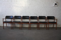 Memorable Erik Buck Danish Mid Century Modern Teak Dining Chairs (O.D. Mobler, Denmark, 1960's)
