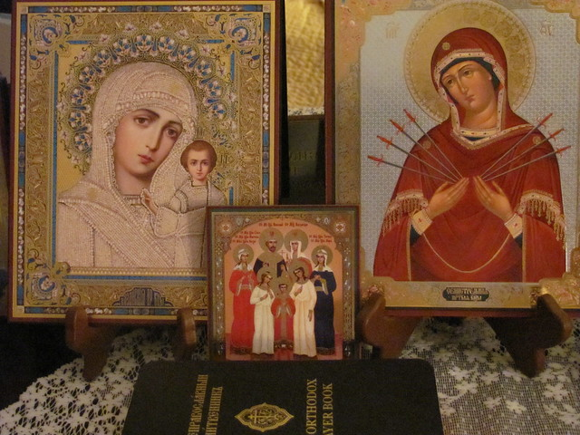 Icons and Old Believers prayer book.